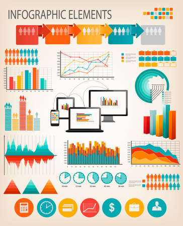 Business infographics template. Vector. Stock Vector - 27322475