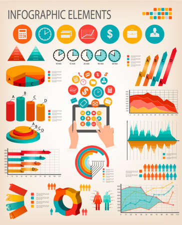 Business infographics template. Vector.  Vector