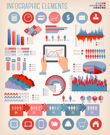 Business infographics template. Vector. Stock Vector - 27322675