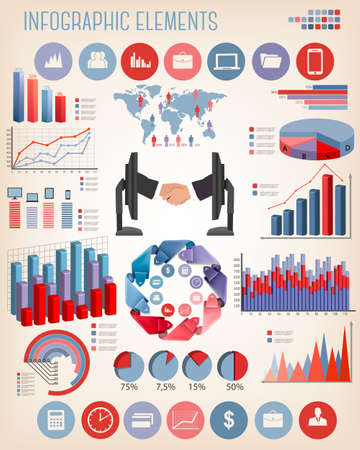 Business infographics template  Vector   Stock Vector - 27515377