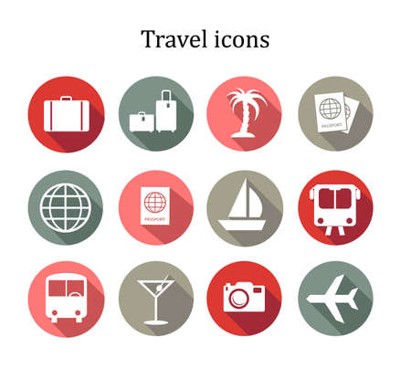 Set of travel icons. Vector Vector