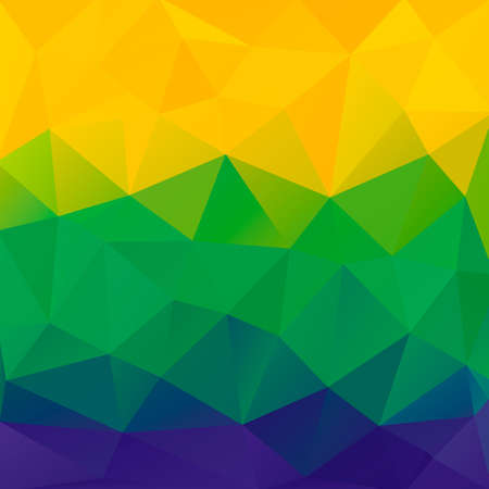 Abstract polygon background  Brazil flag colors  Vector  Vector