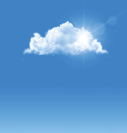 Background with blue sky and a cloud.