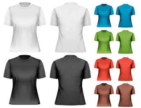 tshirt template: Female t-shirts. Design template. Vector.  Illustration