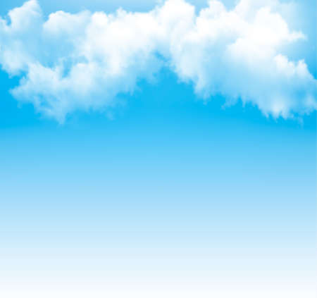 Background with a cloudy blue sky. Vector. Vector