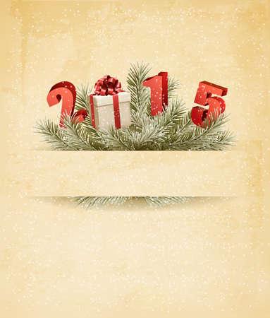 nouvel an: Bonne ann�e 2015! Nouveau mod�le de conception de l'ann�e. Vecteur