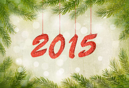 desember: Happy new year 2015! New year design template Vector illustration Illustration