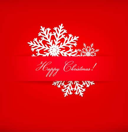 Christmas postcard with snowflakes. Vector. Vector