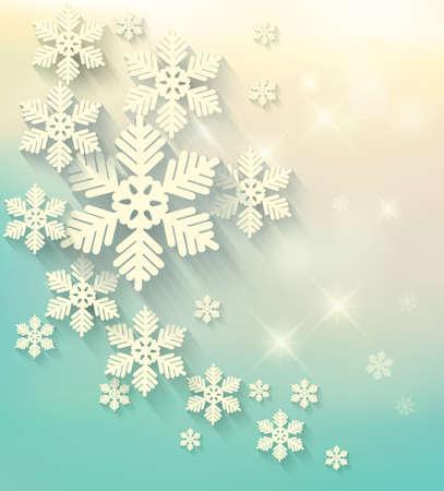 Christmas postcard with snowflakes. Vector. Vektoros illusztráció