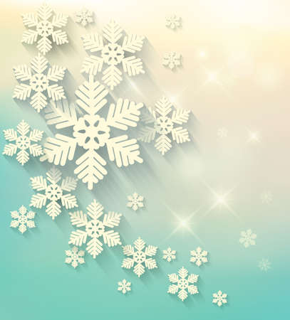 happy holidays: Christmas postcard with snowflakes. Vector.