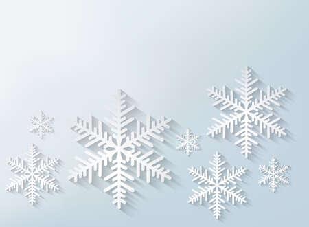 Snowflake Hintergrund. Vector.