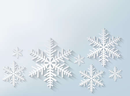 snow crystals: Snowflake background. Vector.