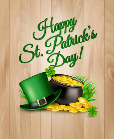 St. Patricks Day Background. Vector illustration. Illustration