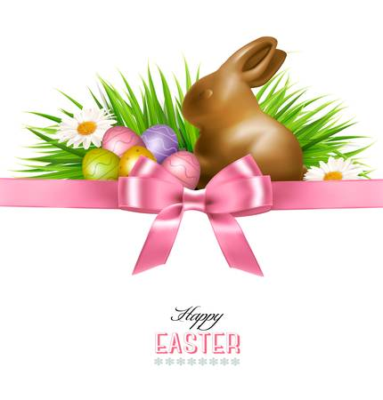 Happy Easter background.  Vector