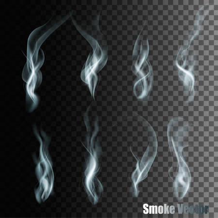 abstract smoke: Set Of Transparent Different Smoke Vectors.