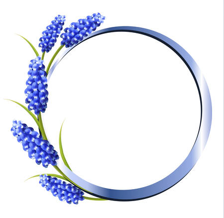 purple flower: Holiday background with blue flowers. Vector. Illustration