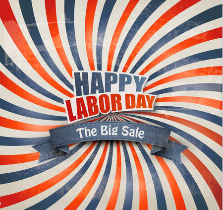 Labor day sale background. Vector Illustration