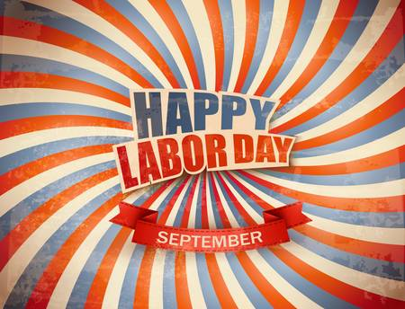 Labor day celebration background. Vector Çizim