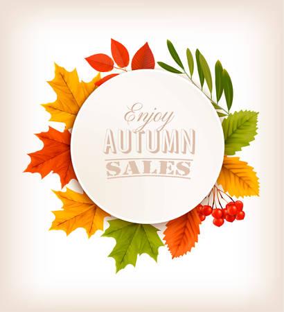 hojas de colores: Las ventas de oto�o con hojas de colores.