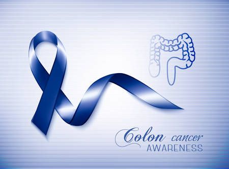 colon cancer: Colon cancer awareness ribbon. Vector