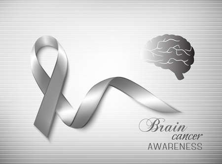 brain cancer: Brain cancer awareness ribbon. Vector