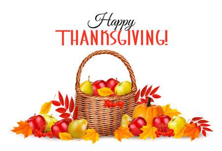feliz: Fondo de Acción de Gracias feliz. Vector. Vectores