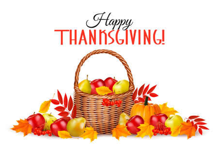 Happy Thanksgiving Background. Vector. Illustration