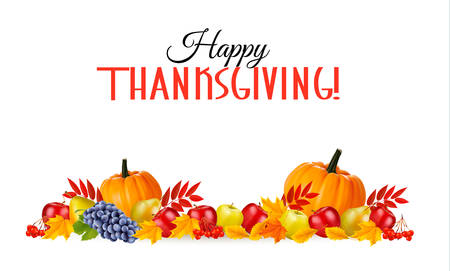 Happy Thanksgiving Background. Vector. Vettoriali