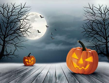 Halloween griezelige achtergrond. Vector Stock Illustratie