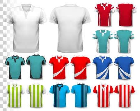 uniforme de futbol: Conjunto de nubes y el humo transparentes. Vector.