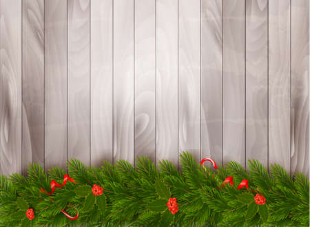 christmas ornamentation: Christmas decoration on old wooden background.