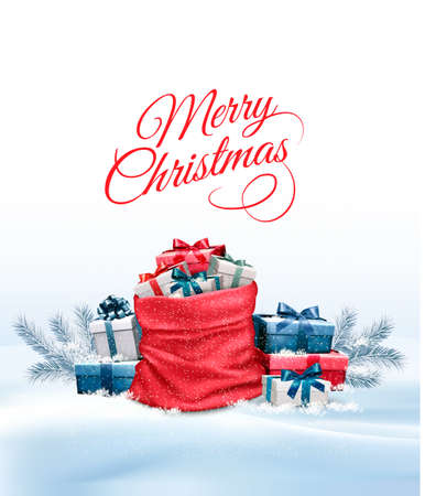 christmas meal: Office Background with Santa Hat, Tablet and Office Supplies. Business Concept. Vector. Illustration