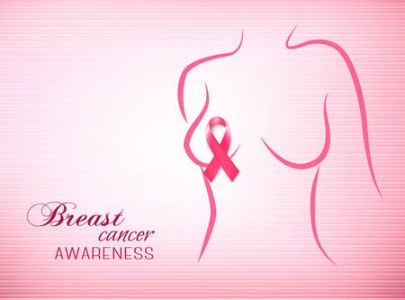 Contexte rose de conscience du cancer du sein.
