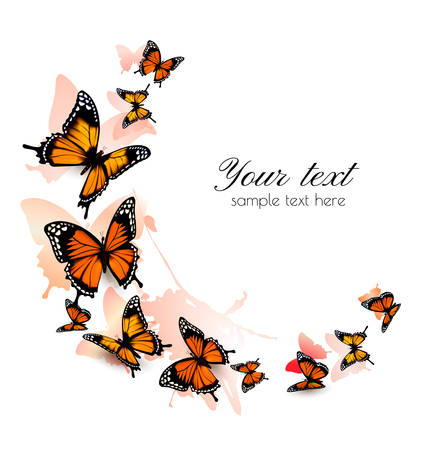 butterfly background: Beautiful butterfly background. Vector.