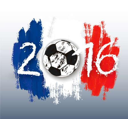championship: France Football Championship banner. Vector.