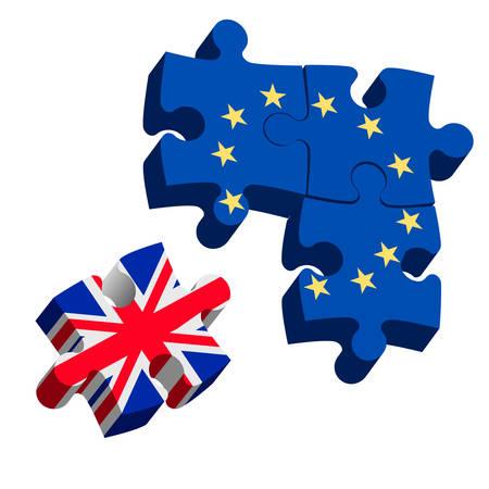 Brexit Puzzle Pieces. Vector