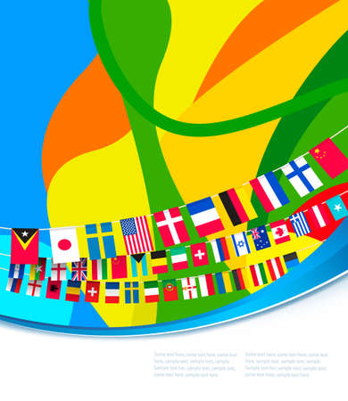 world flags: Abstract colorful pattern with flags of world. Vector illustration Illustration