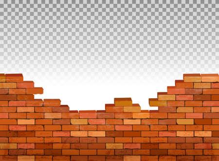 빈티지 벽돌 벽 배경입니다. 벡터