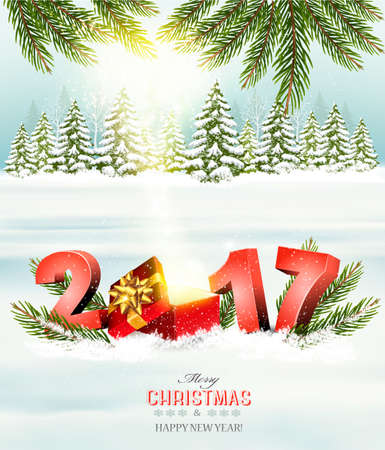 Happy new year 2017! New year design template Vector illustration Illustration