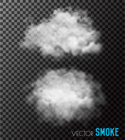 Transparent set of smoke vectors.  イラスト・ベクター素材