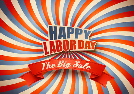Labor day sale. Illustration