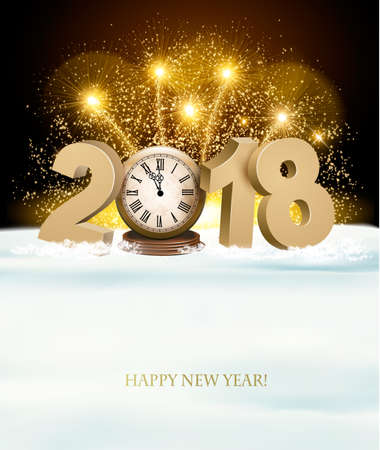Happy New Year greeting card concept.