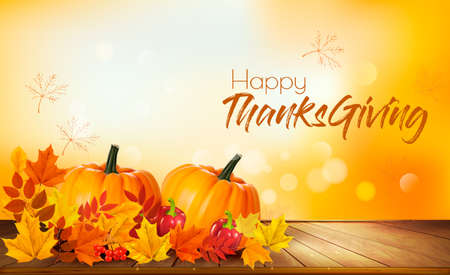 Happy Thanksgiving greeting card concept. Illustration