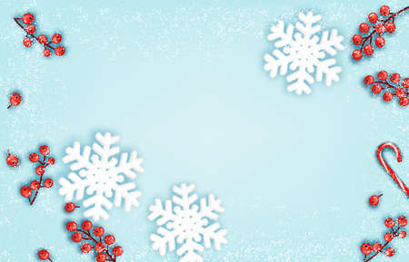 Abstract holiday christmas background with snowflake. Vector illustration Illustration
