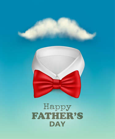 Happy Fathers Day  With A Colorful Ties On Rope. Ilustrace