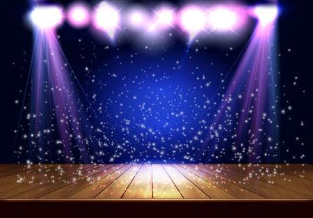 Transparent Spotlight stage
