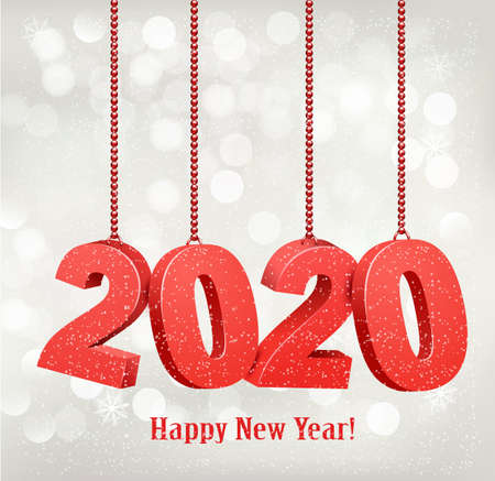 2020 New Years background. Vector.
