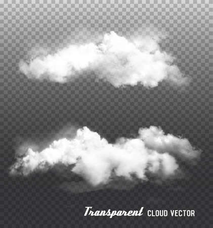 Clouds vector on transparent background. Vettoriali