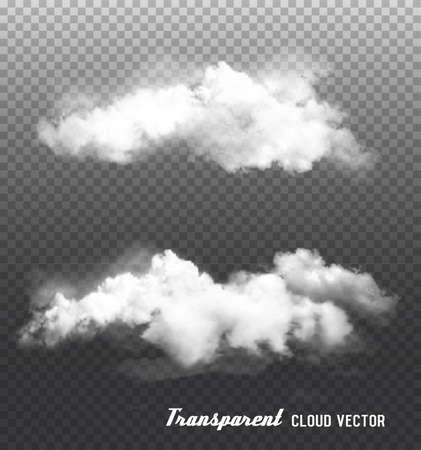 Clouds vector on transparent background. Ilustração