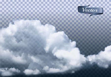 Clouds vector on transparent Ilustracja